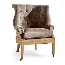 Rivièra Maison Fauteuil 'Cunningham' Linen, kleur Fabulous Flax