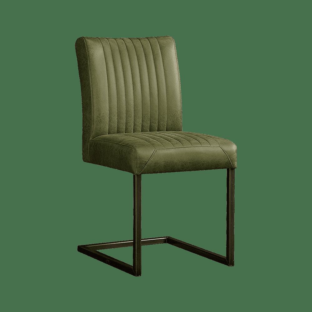 Eetkamerstoel 'Ferro', kleur groen