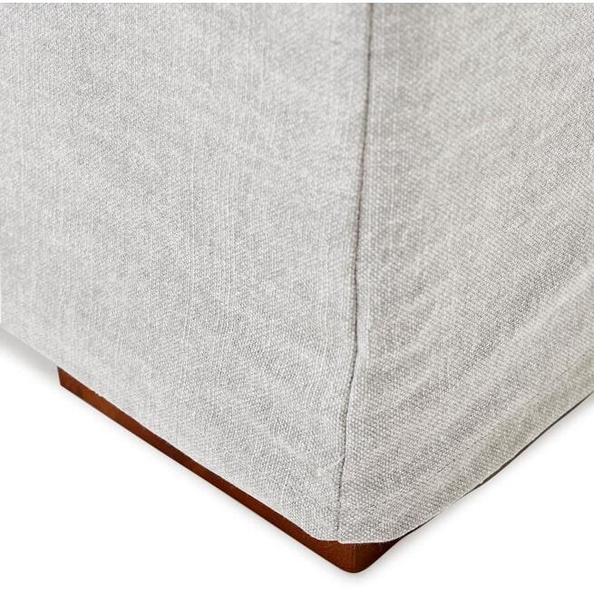 Rivièra Maison Loungebank 'Brompton Cross' Rechts, Cotton, kleur Ash Grey