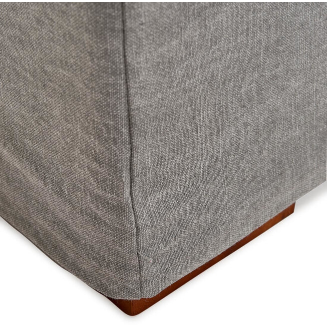 Rivièra Maison Loungebank 'Brompton Cross' Links, Cotton, kleur Grey