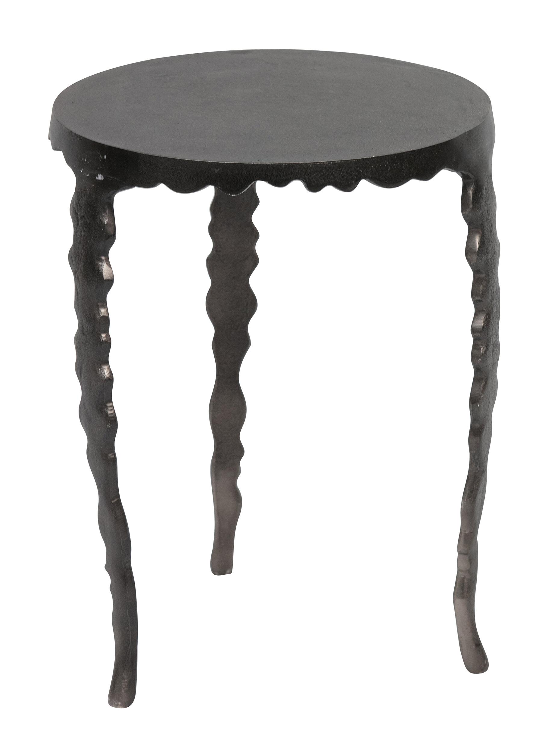 BePureHome Bijzettafel 'Twist' 37cm, kleur Zwart