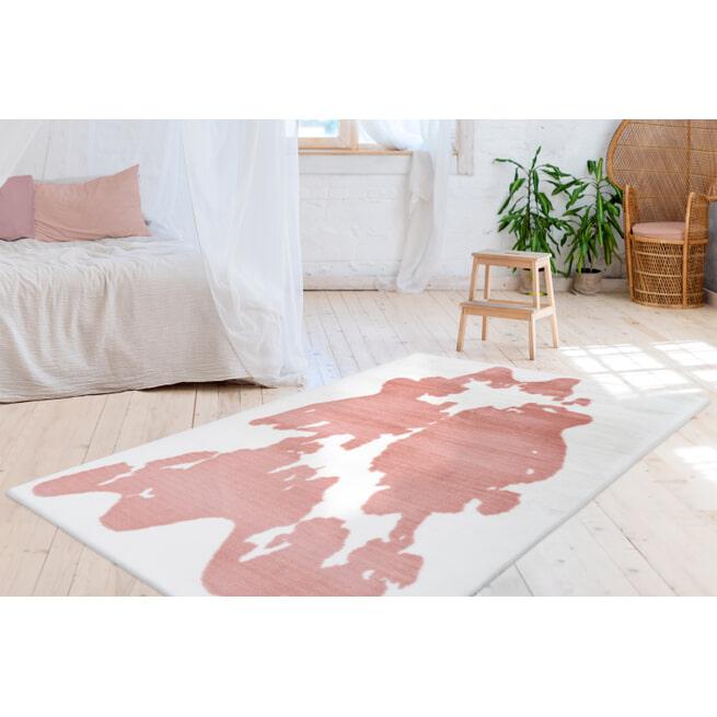 Kayoom Vloerkleed 'Rabbit Animal' kleur roze / wit