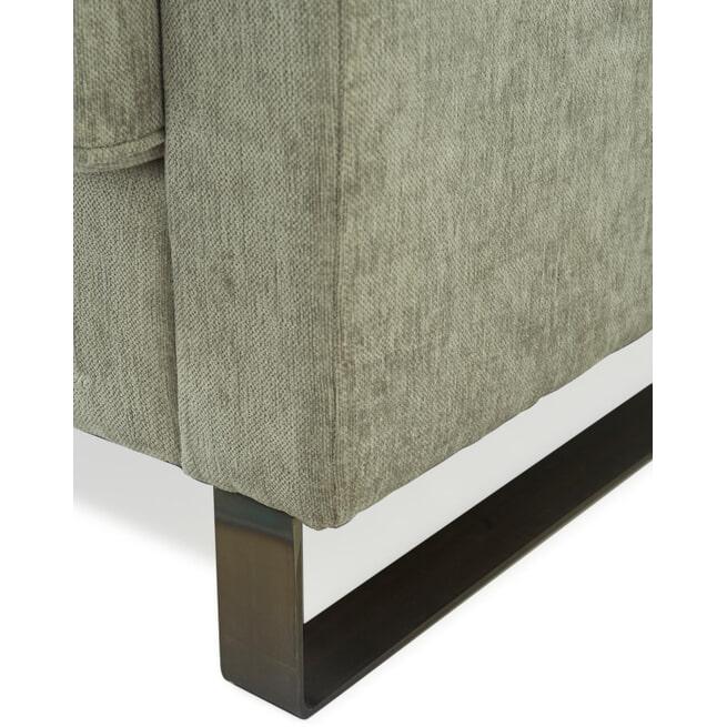 Rivièra Maison Fauteuil 'West Houston' Velvet, kleur Platinum
