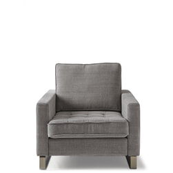 Rivièra Maison Fauteuil 'West Houston' Cotton, kleur Grey