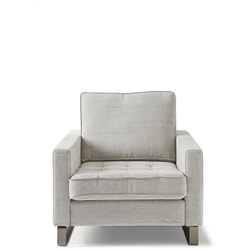 Rivièra Maison Fauteuil 'West Houston' Cotton, kleur Ash Grey