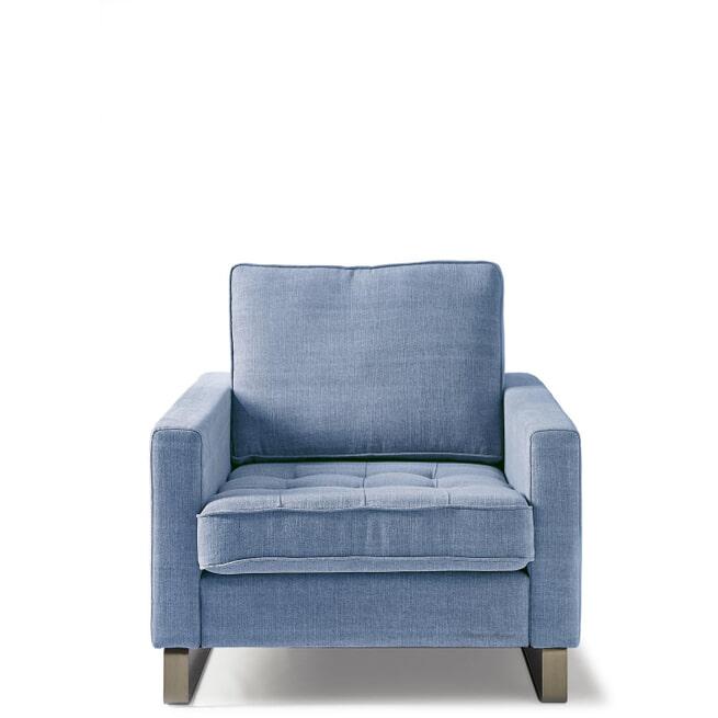 Rivièra Maison Fauteuil 'West Houston' Cotton, kleur Ice Blue