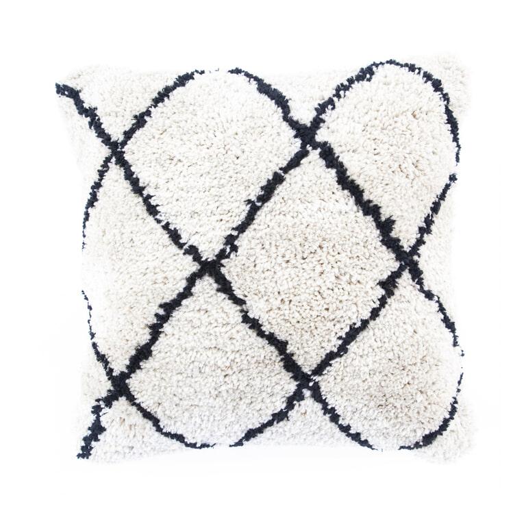 By-Boo Kussen 'Pillow Rox' 45 x 45cm, kleur Natural