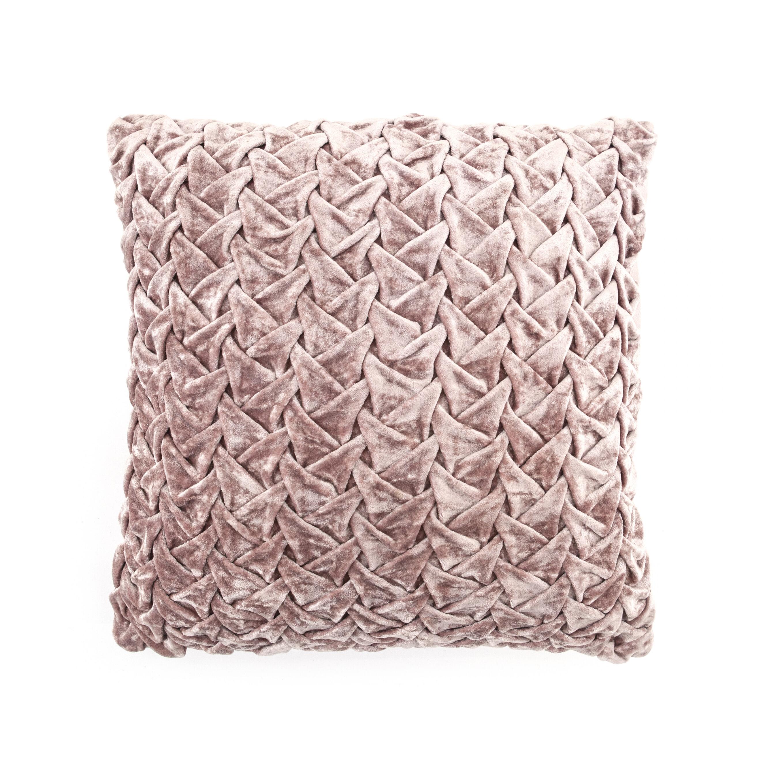 By-Boo Kussen 'Allen' 45 x 45cm, kleur Roze