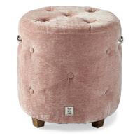 Rivièra Maison Poef 'Bowery' Velvet, kleur Pink