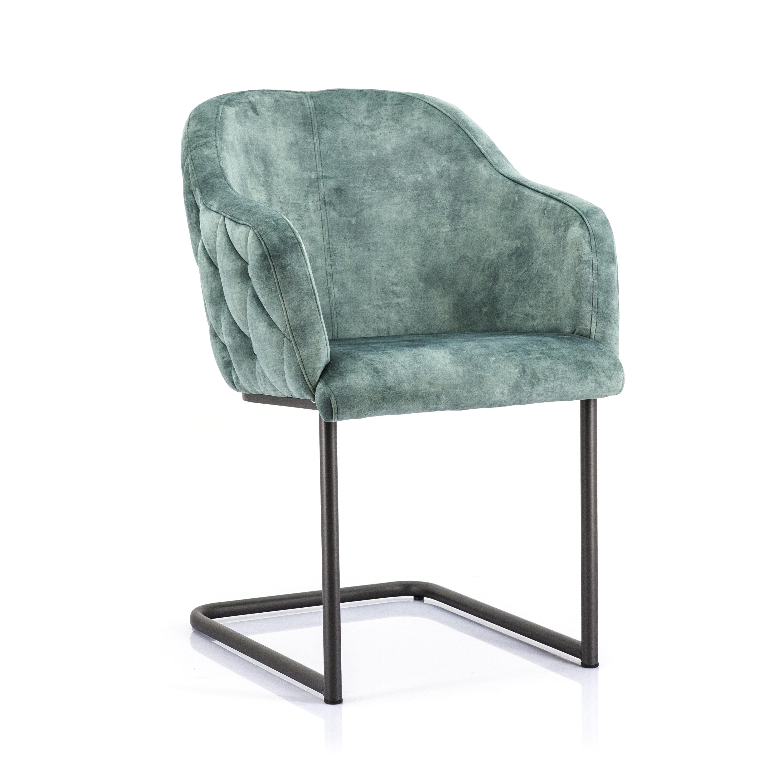Eleonora Eetkamerstoel 'Paulette' kleur Groen