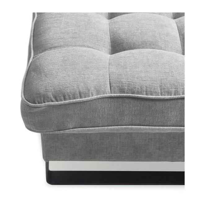 Rivièra Maison Loungebank 'West Houston' Rechts, Velvet, kleur Platinum