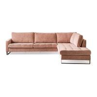 Rivièra Maison Loungebank 'West Houston' Rechts, Velvet, kleur Blossom