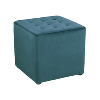 Bendt Hocker 'Meja' Velvet, kleur Bottle Green