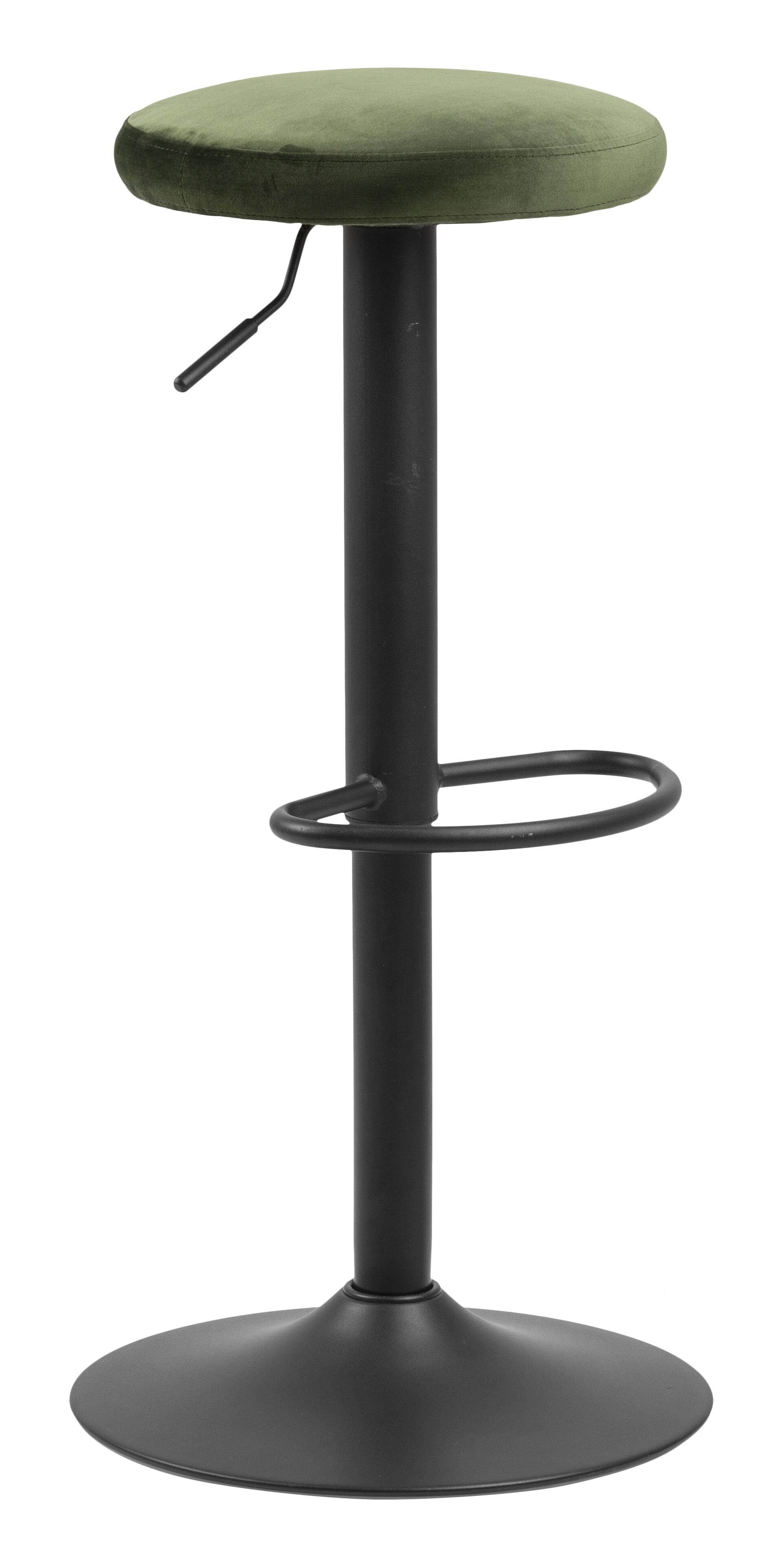 Bendt Barkruk 'Inger' Velvet (zithoogte 62-82cm), kleur Forest Green