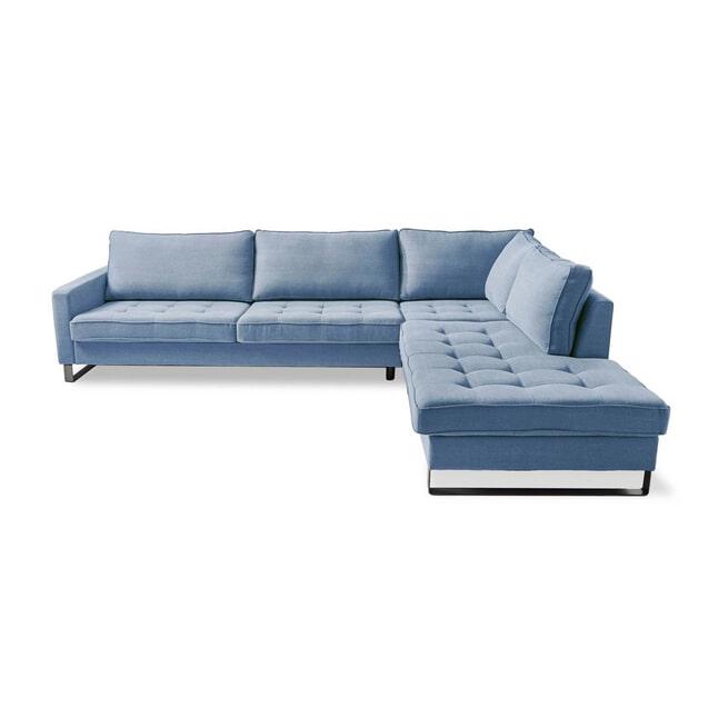 Rivièra Maison Loungebank 'West Houston' Rechts, Cotton, kleur Ice Blue