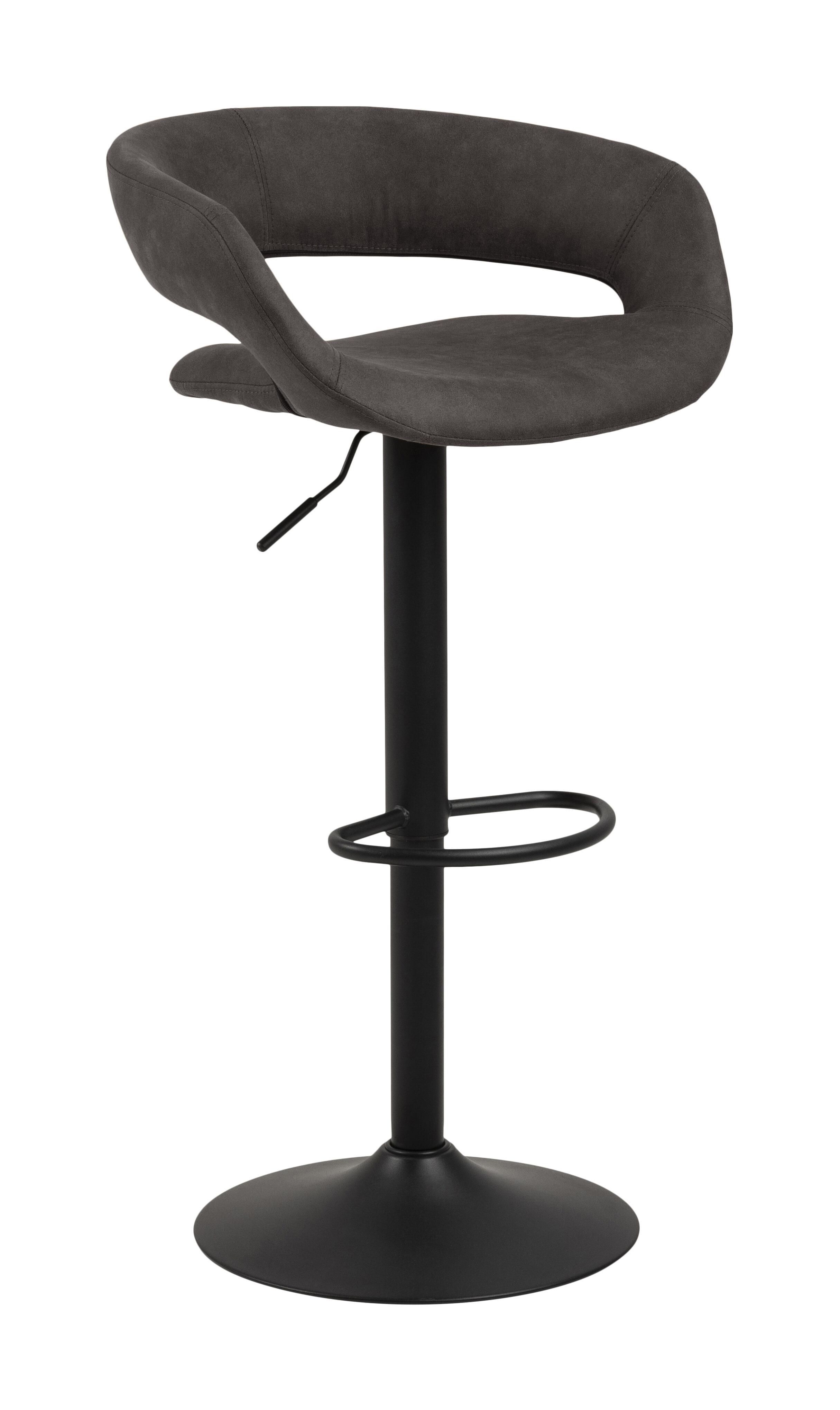 Bendt Barkruk 'Pia' (zithoogte 59-80cm), kleur Antraciet