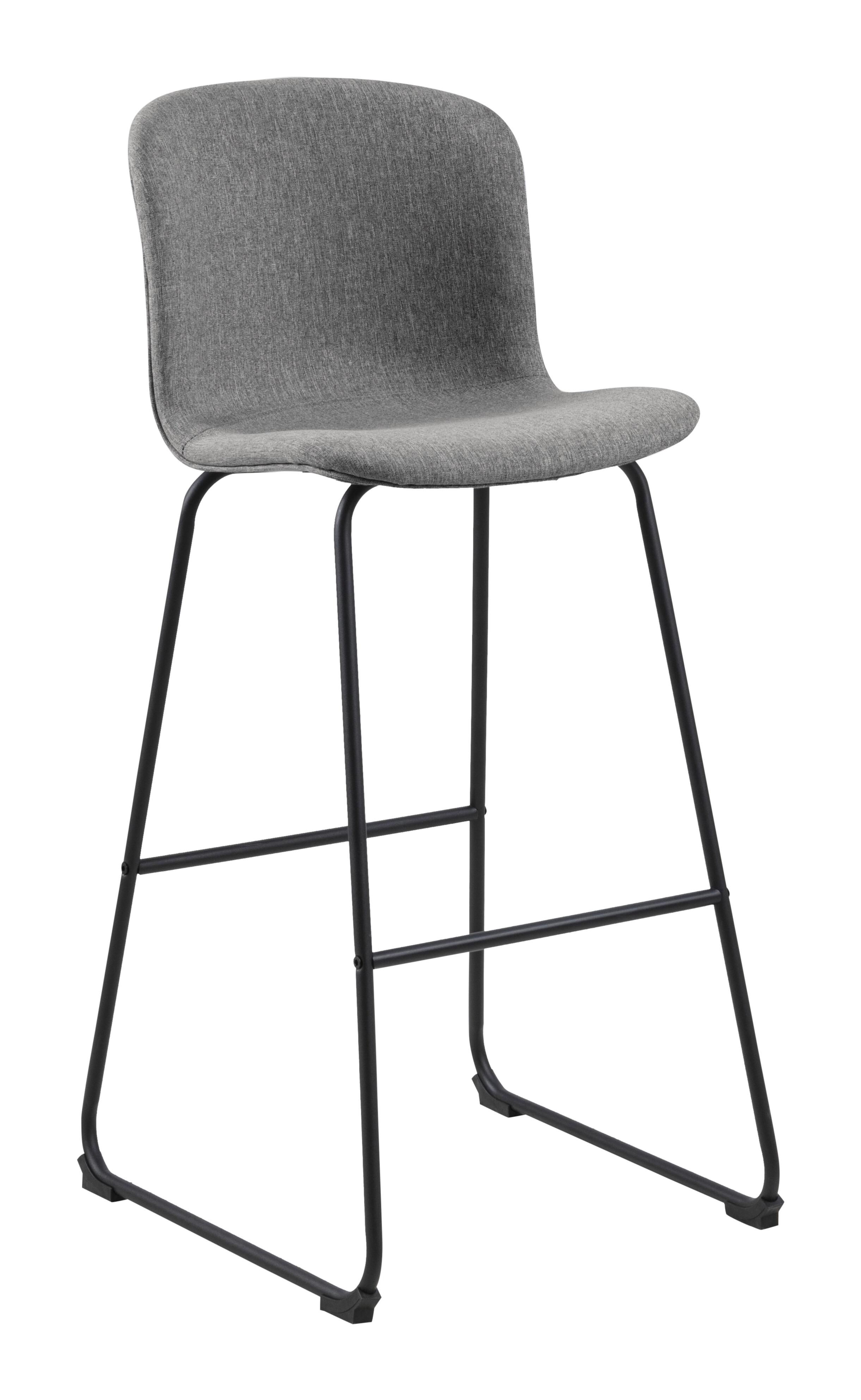 Interstil Barkruk 'Story' (zithoogte 75cm), kleur Grijs