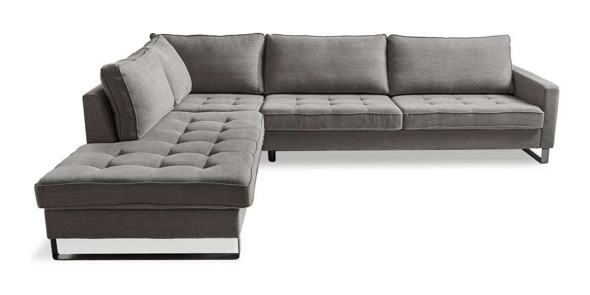 Rivièra Maison Loungebank 'West Houston' Links, Cotton, kleur Grey