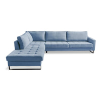 Rivièra Maison Loungebank 'West Houston' Links, Cotton, kleur Ice Blue