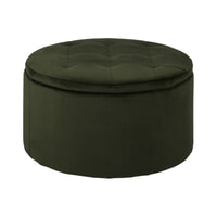 Bendt Poef 'Elith' Velvet, kleur Forest Green
