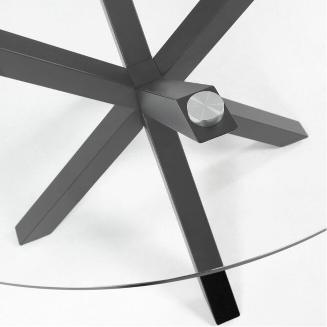Sohome Ronde Eettafel 'Ricky' 130cm, kleur Zwart Marmer