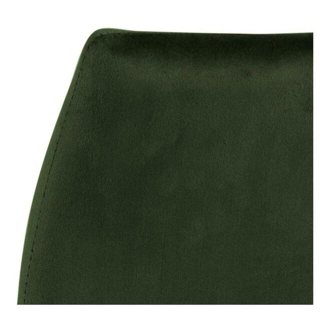 Bendt Barkruk 'Nuna' Velvet, kleur Olijfgroen (zithoogte 77cm)