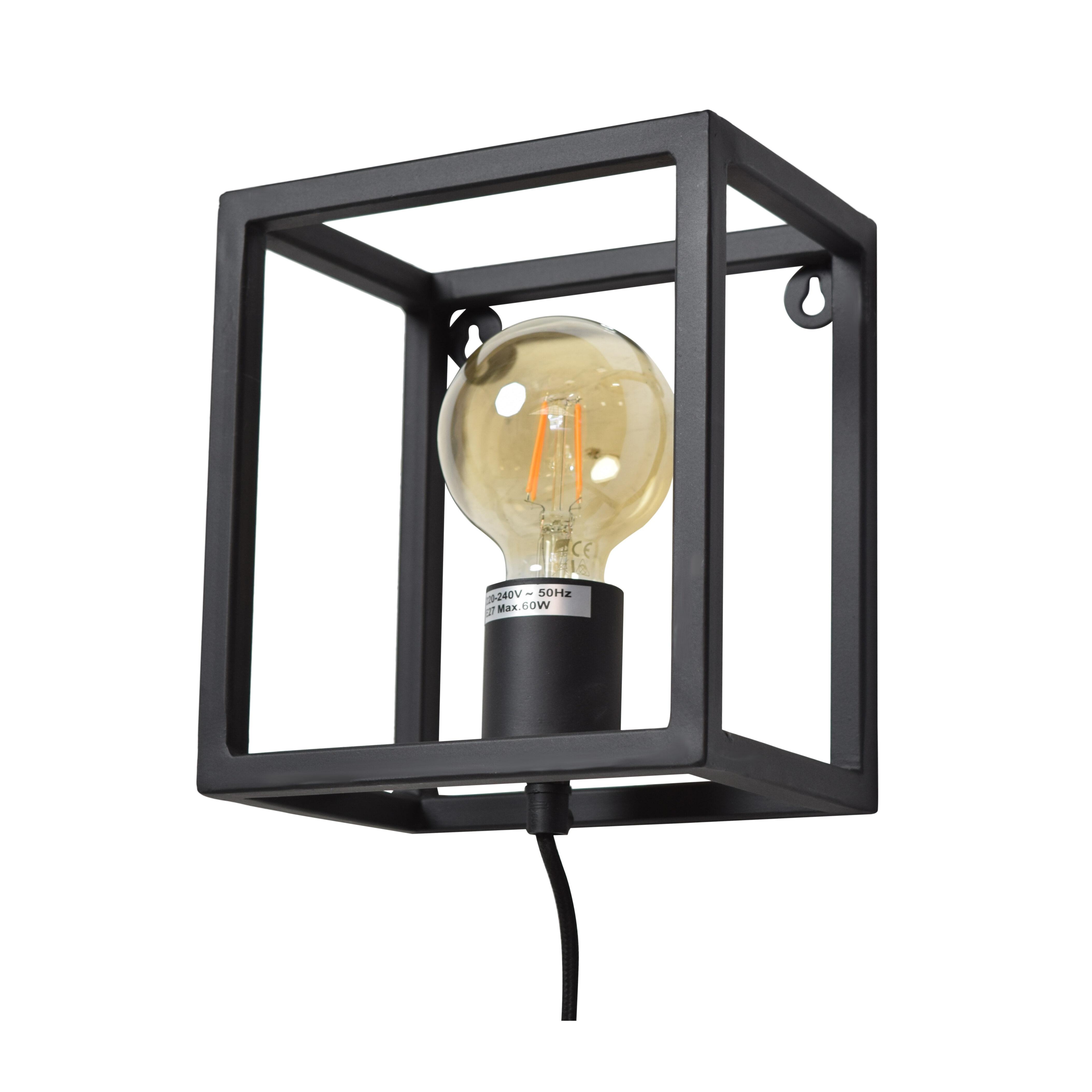 Urban Interiors wandlamp 'Frame', kleur Mat Zwart