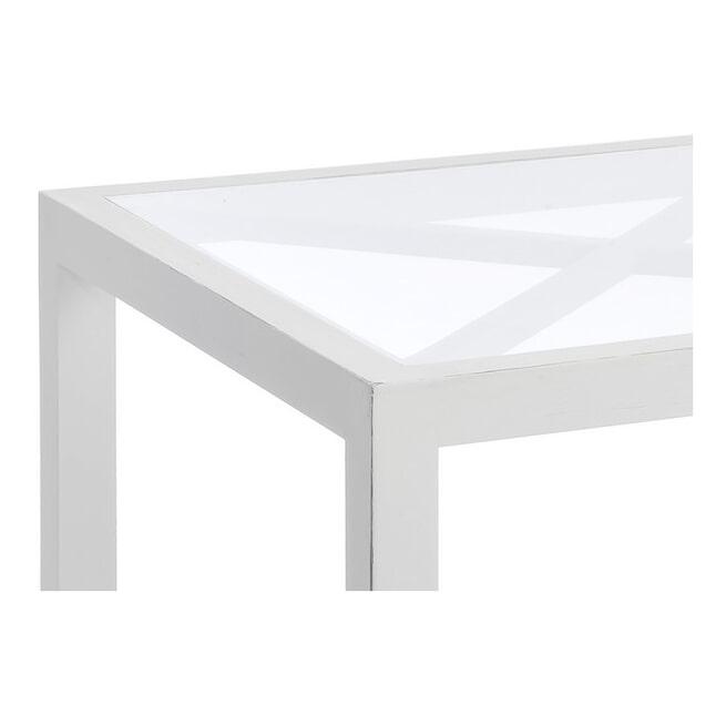 J-Line Bijzettafel 'Florentine' kleur Wit, 50 x 50cm