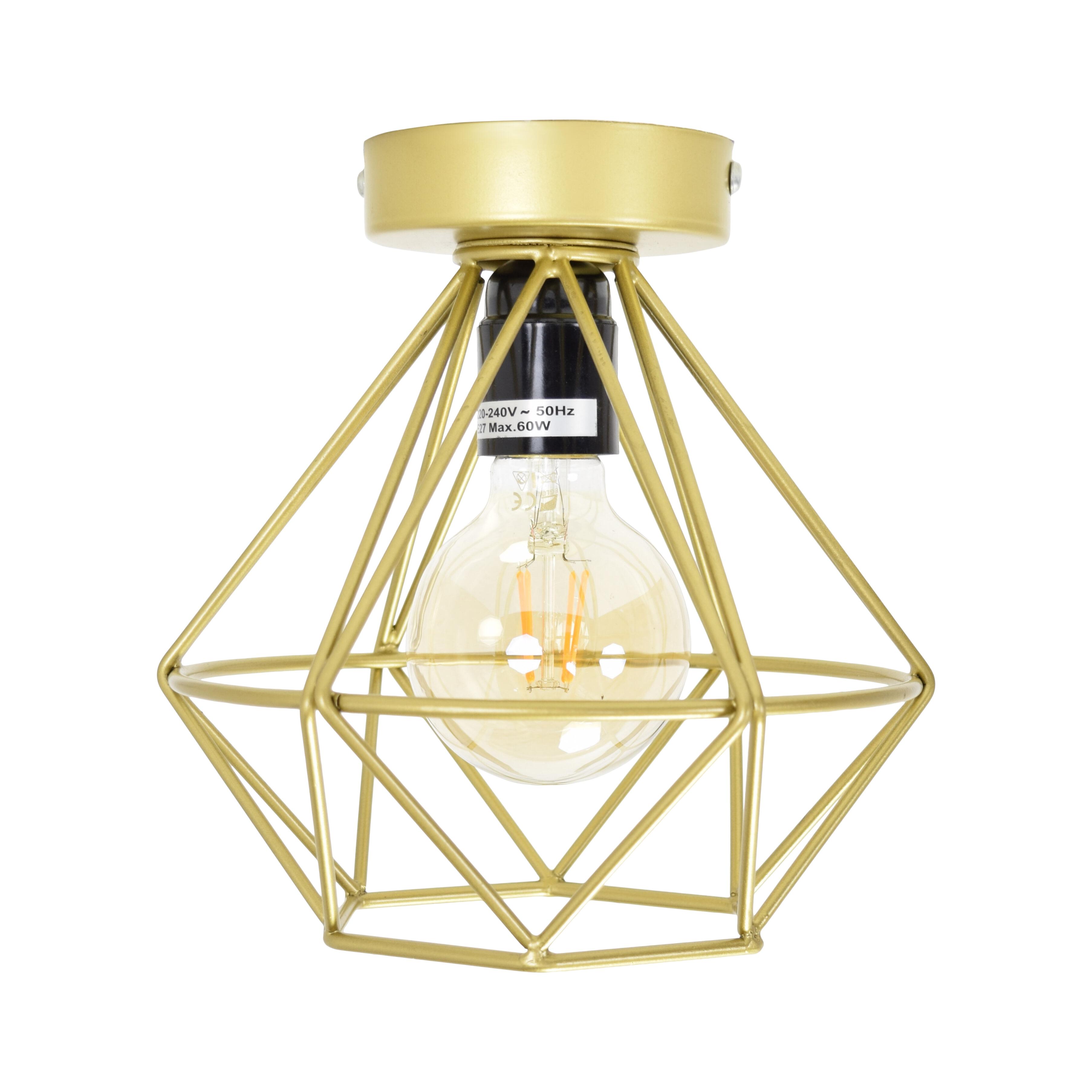 Urban Interiors plafondlamp 'Wire .' Ø22cm, kleur Goud