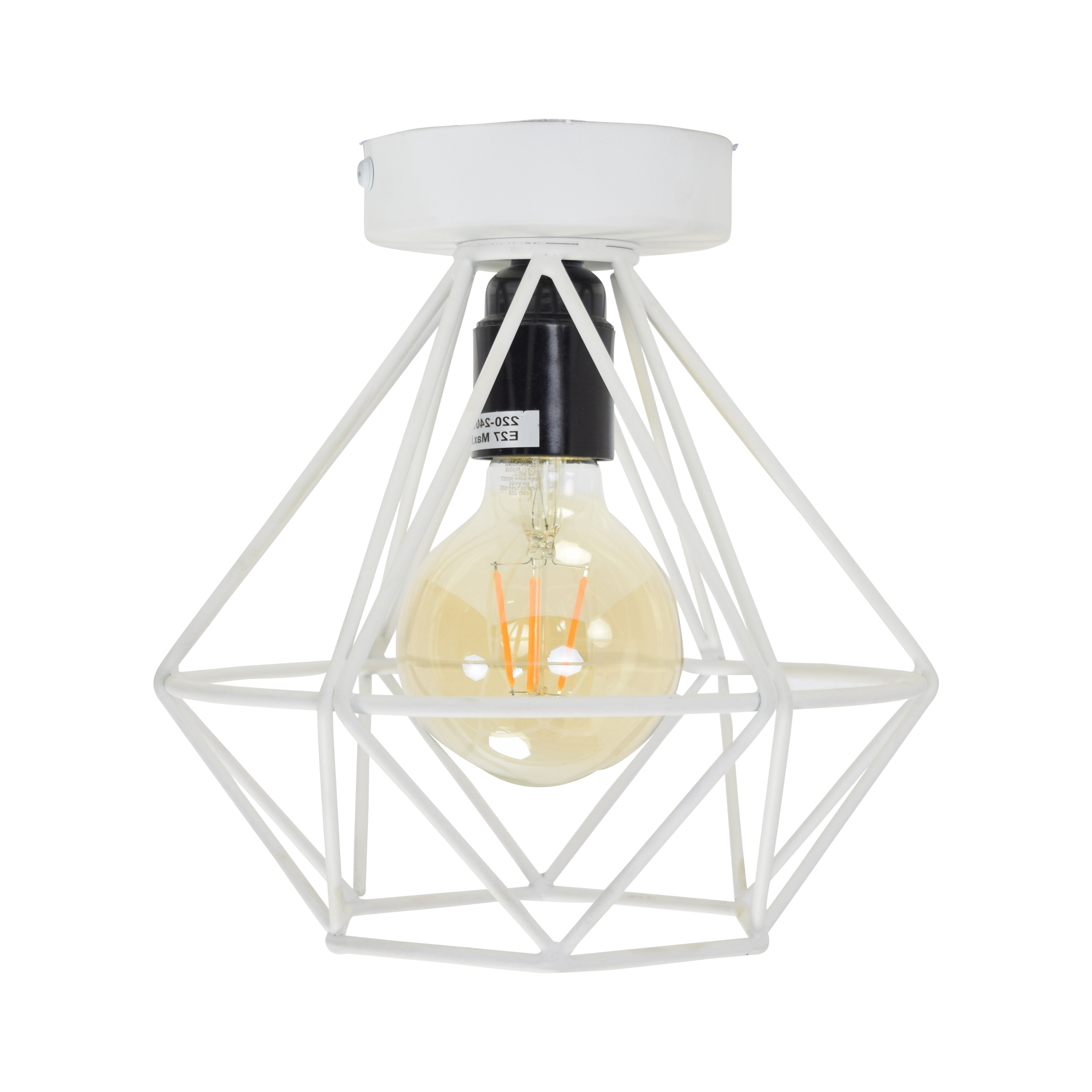 Urban Interiors plafondlamp 'Wire .' Ø22cm, kleur Mat Wit