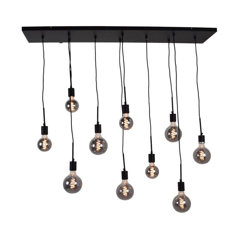 Urban Interiors hanglamp 'Bulby 10-lichts', kleur Zwart