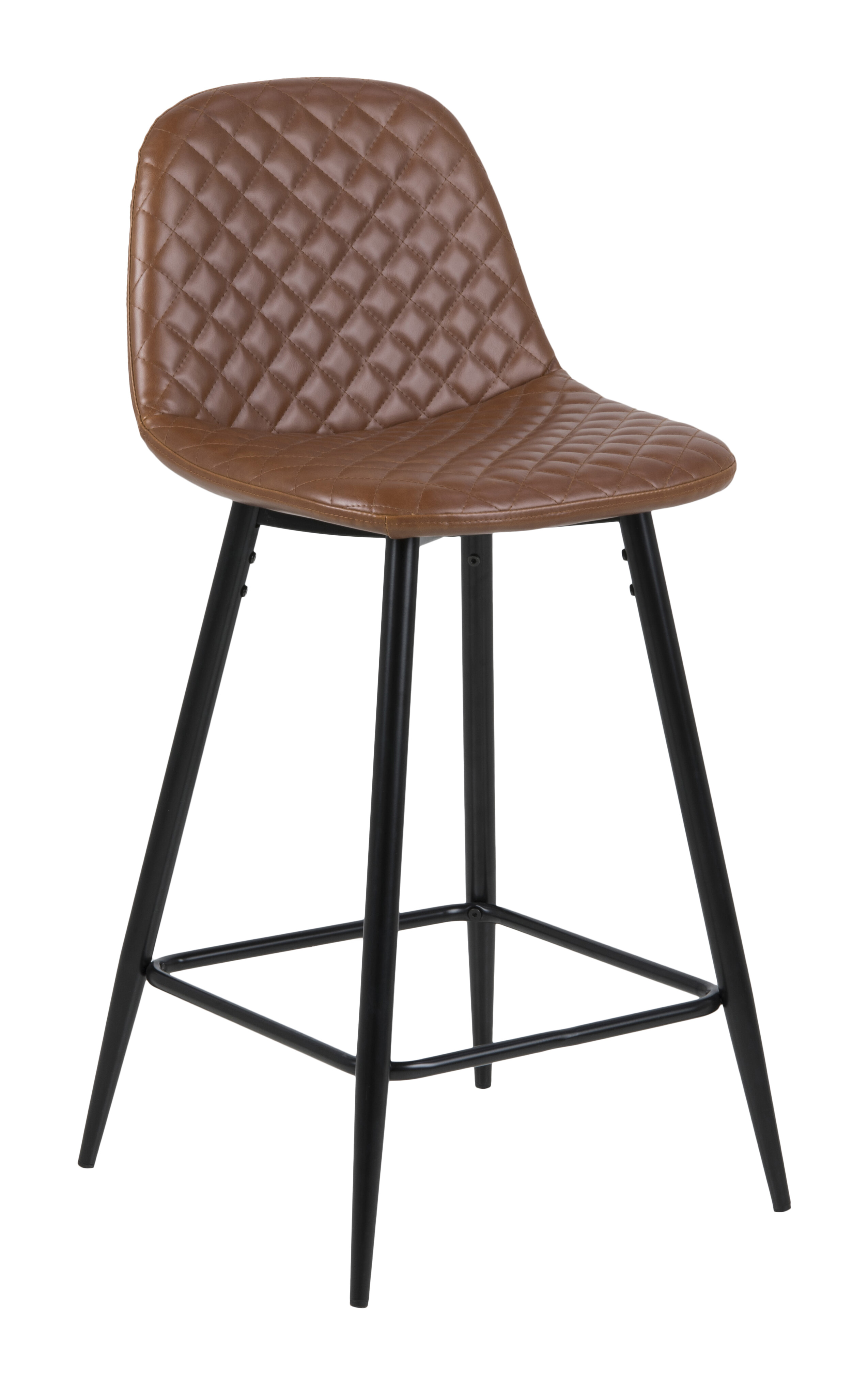 Bendt Barstoel 'Louise' (zithoogte 65cm) PU, kleur Cognac