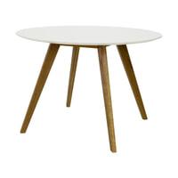 Tenzo Ronde Eettafel 'Bess' Ø110 cm, kleur Wit