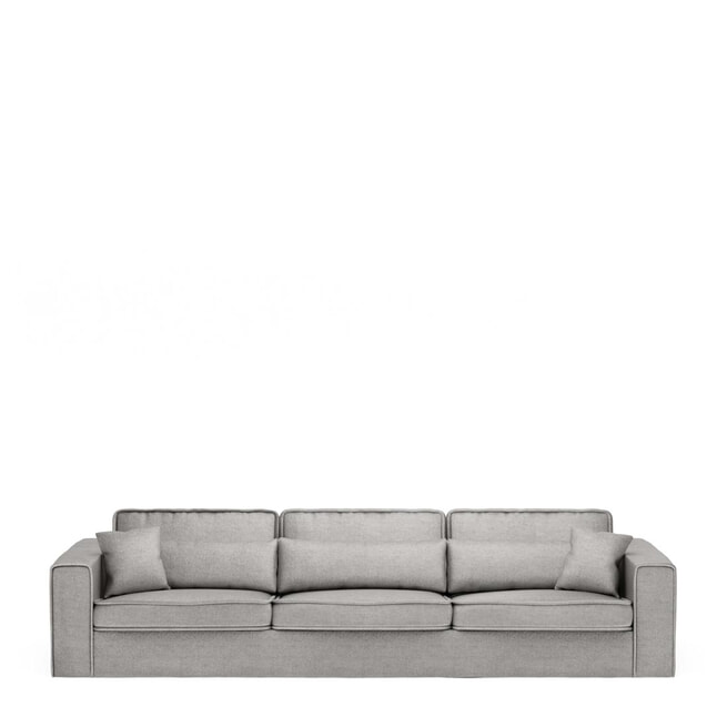 Rivièra Maison Bank 'Metropolis' XL, Velvet, kleur Platinum