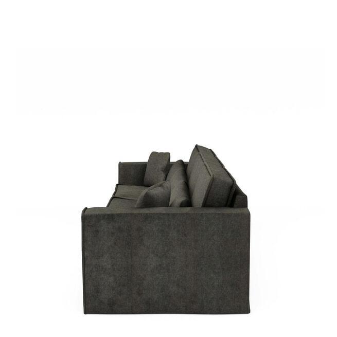 Rivièra Maison Bank 'Metropolis' XL, Velvet, kleur Shadow