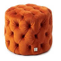 Rivièra Maison Poef 'Opera' 55cm, Velvet, kleur Pumpkin