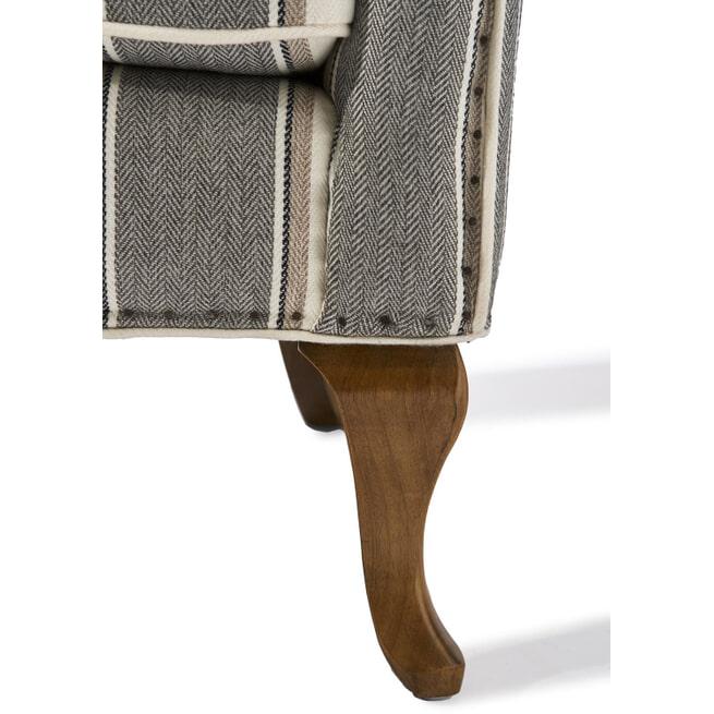 Rivièra Maison Fauteuil 'Cavendish', kleur Grey Stripe