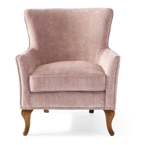 Rivièra Maison Fauteuil 'Cavendish' Velvet, kleur Pink
