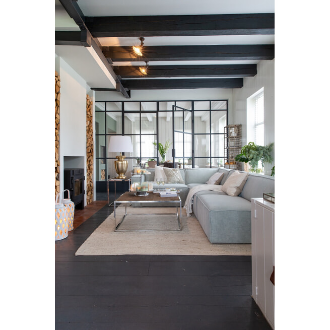 Rivièra Maison Modulaire Bank 'The Jagger' Corner, Velvet, kleur Blossom