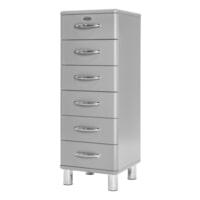 Tenzo Ladenkast 'Malibu' met 6 laden, kleur Zilver