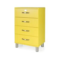 Tenzo Ladenkast 'Malibu' met 4 laden, kleur Geel