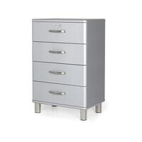 Tenzo Ladenkast 'Malibu' met 4 laden, kleur Zilver