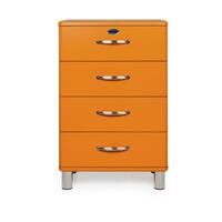 Tenzo Ladenkast 'Malibu' met 4 laden, kleur Oranje