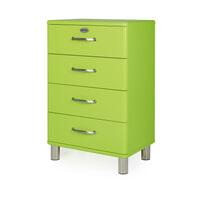 Tenzo Ladenkast 'Malibu' met 4 laden, kleur Groen