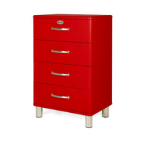 Tenzo Ladenkast 'Malibu' met 4 laden, kleur Rood