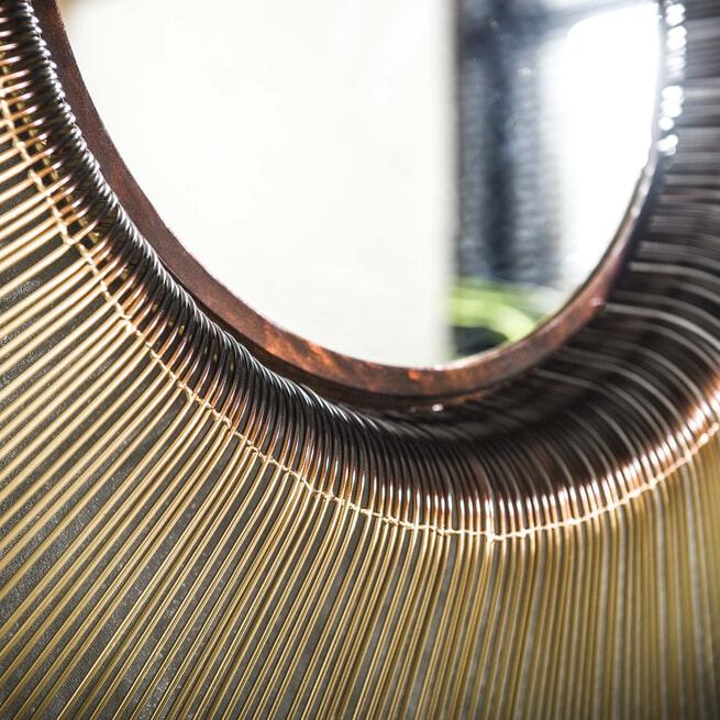 Spiegel 'Zooey' Ø80cm, kleur goud