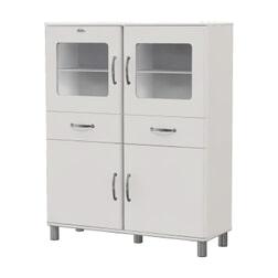Tenzo Vitrinekast 'Malibu' 150 x 120cm, kleur Wit