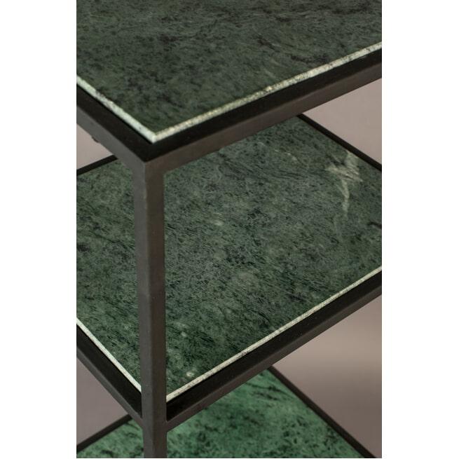 Dutchbone Wijnkast 'Mil' Groen marmer, 125.5 x 36cm