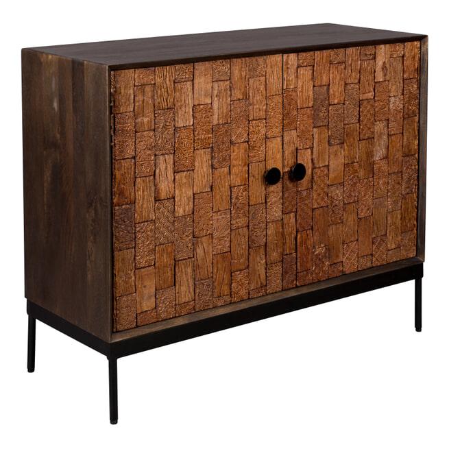 Dutchbone Opbergkast 'Chisel' Mangohout, 80 x 100cm
