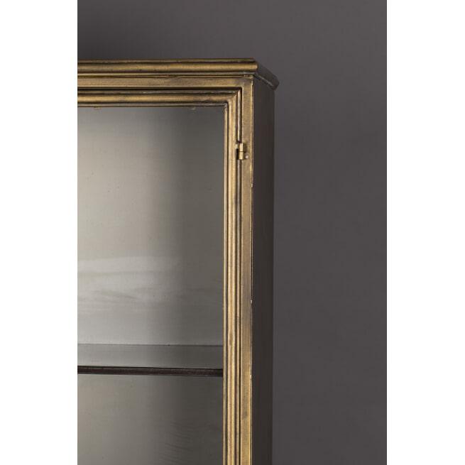 Dutchbone Vitrinekast 'Gertlush' Antique Brass, 184 x 63.5cm